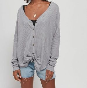 Out From Under Jojo Oversized Button Front Thermal